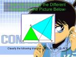 can you classify the different triangles in the p icture below