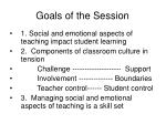 goals of the session