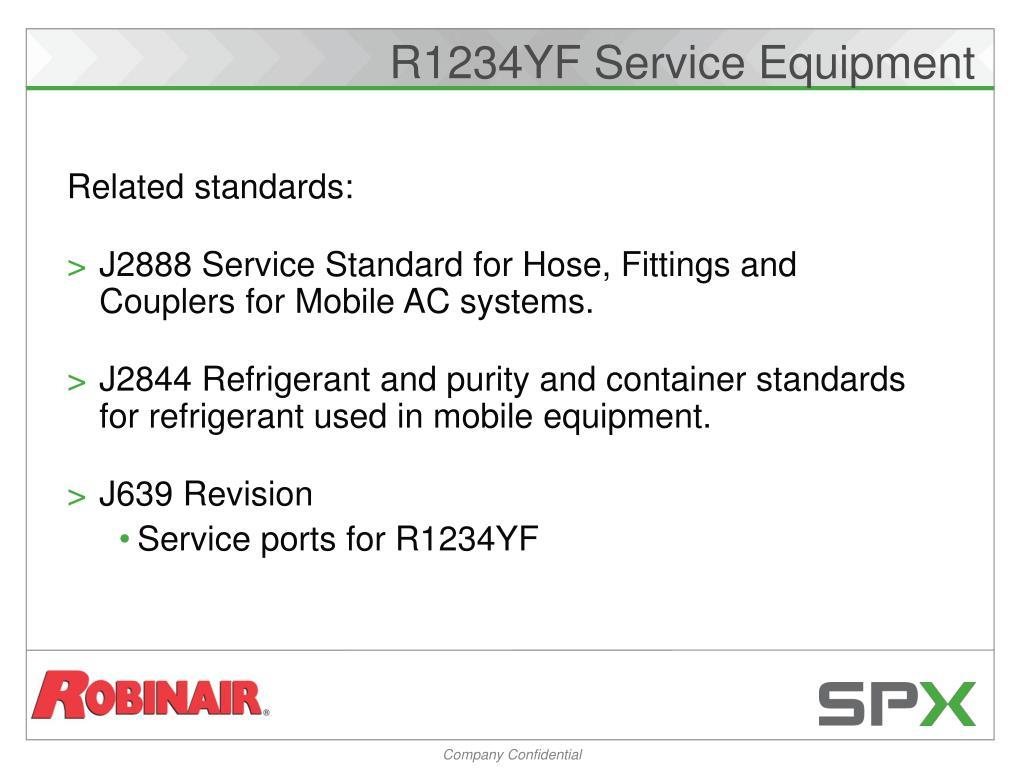 R1234YF Service Equipment