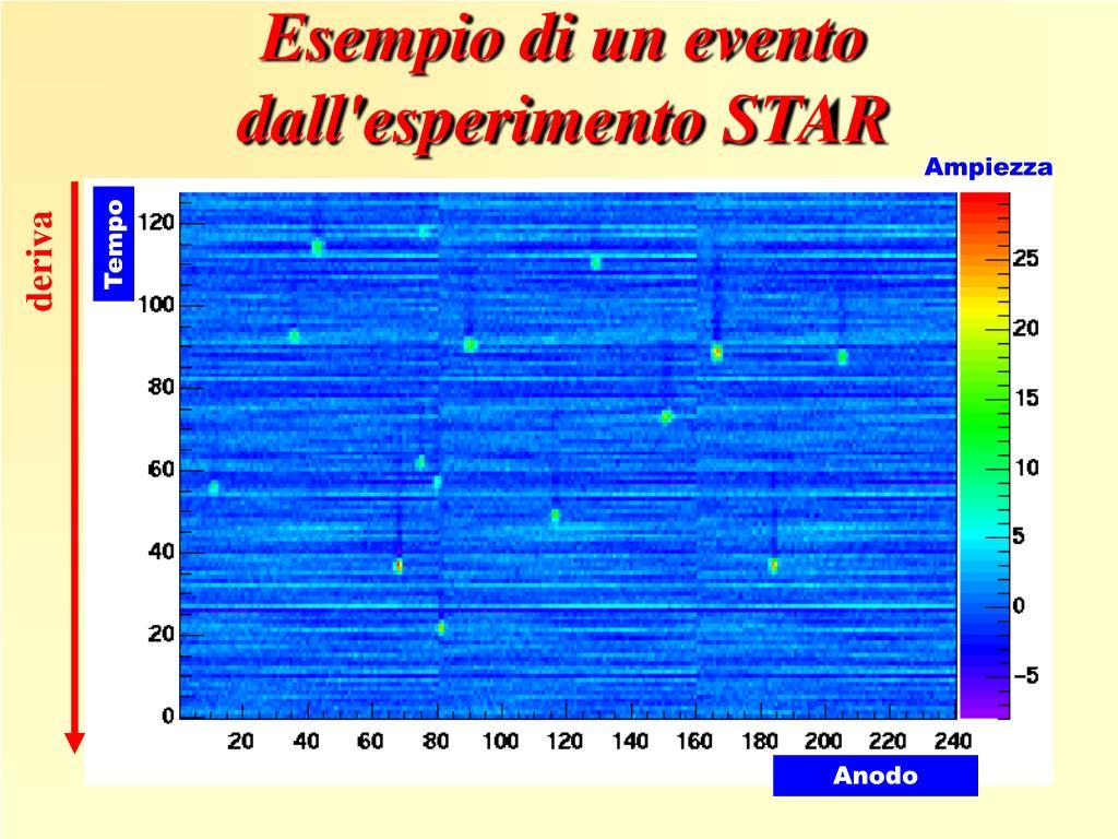 Esempio di un evento dall'esperimento STAR