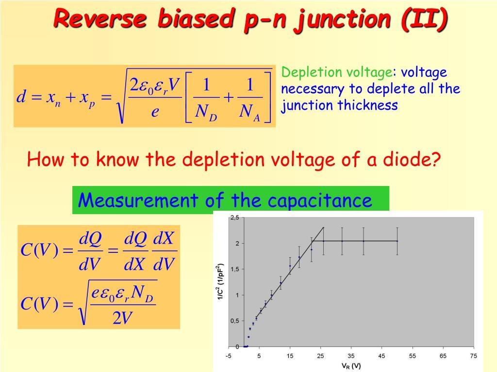 Reverse biased p-n junction (II)