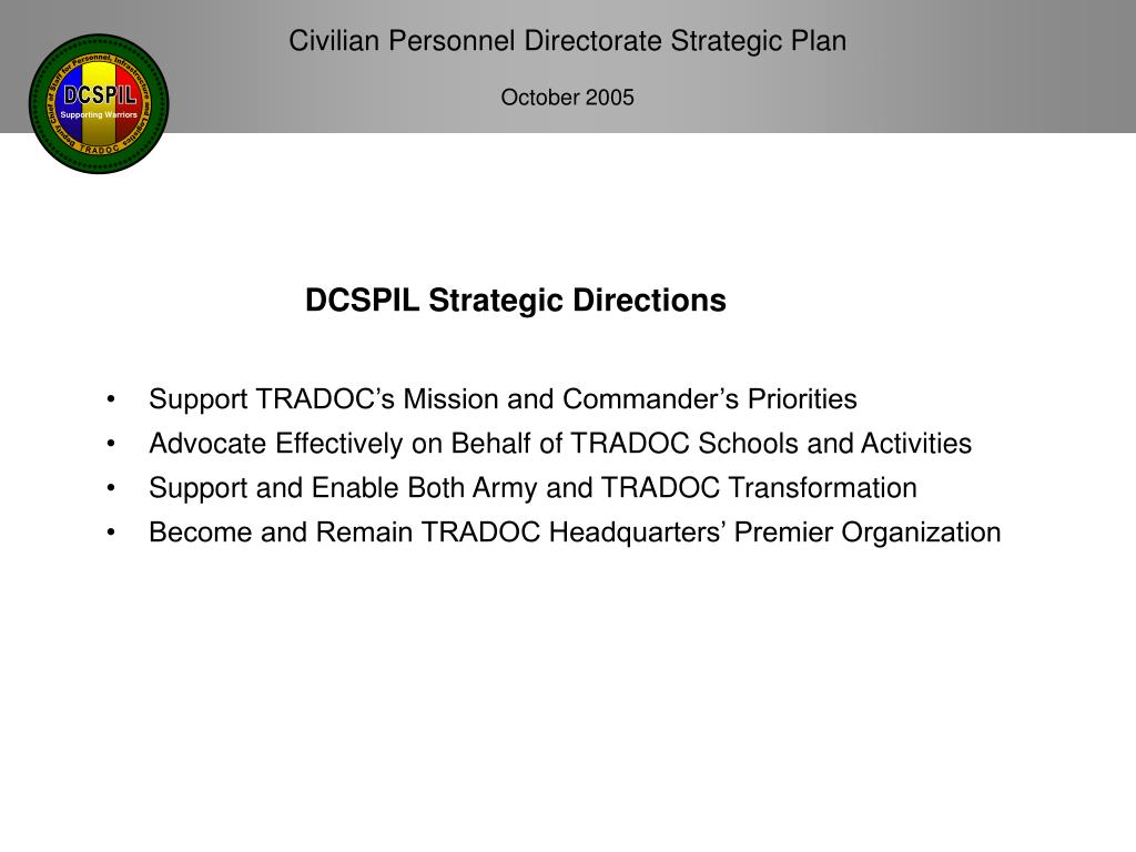 Support TRADOC's Mission and Commander's Priorities