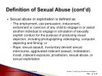 definition of sexual abuse cont d