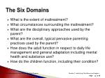 the six domains