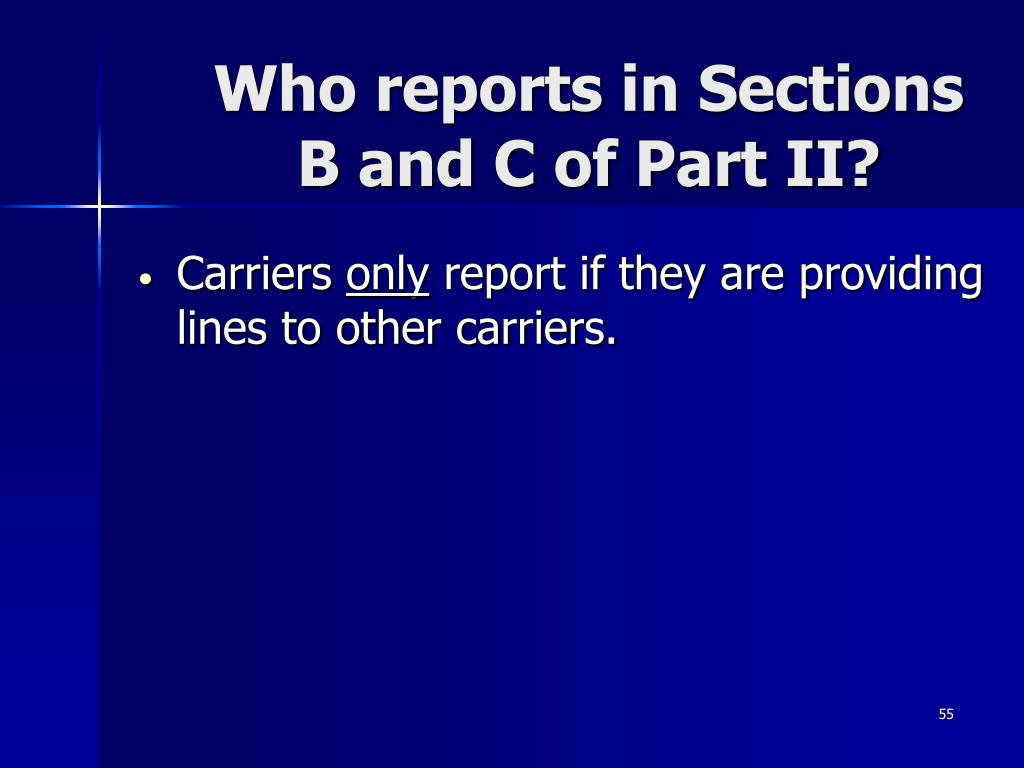 Who reports in Sections
