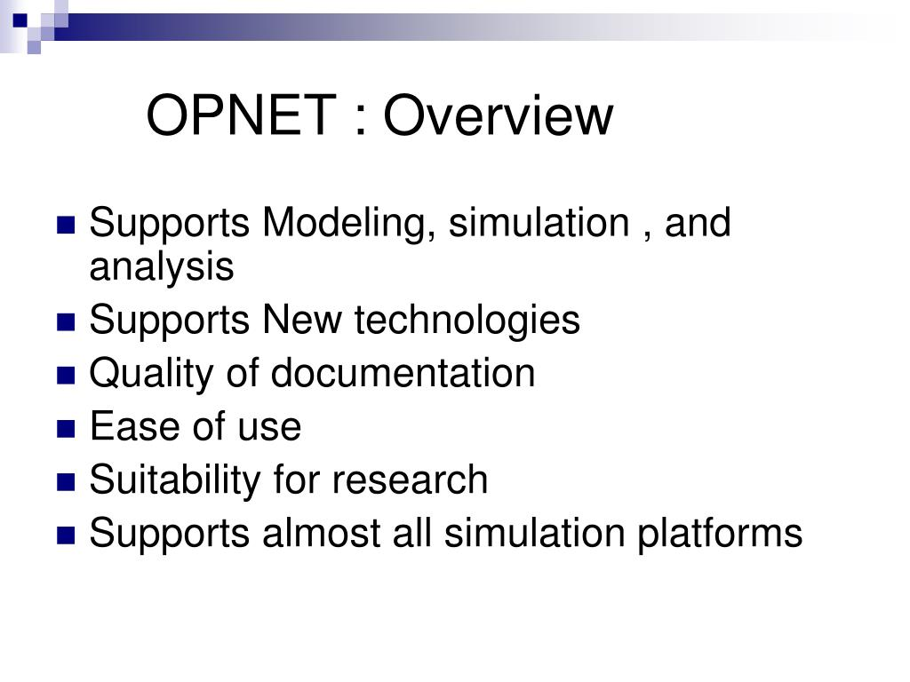 OPNET : Overview
