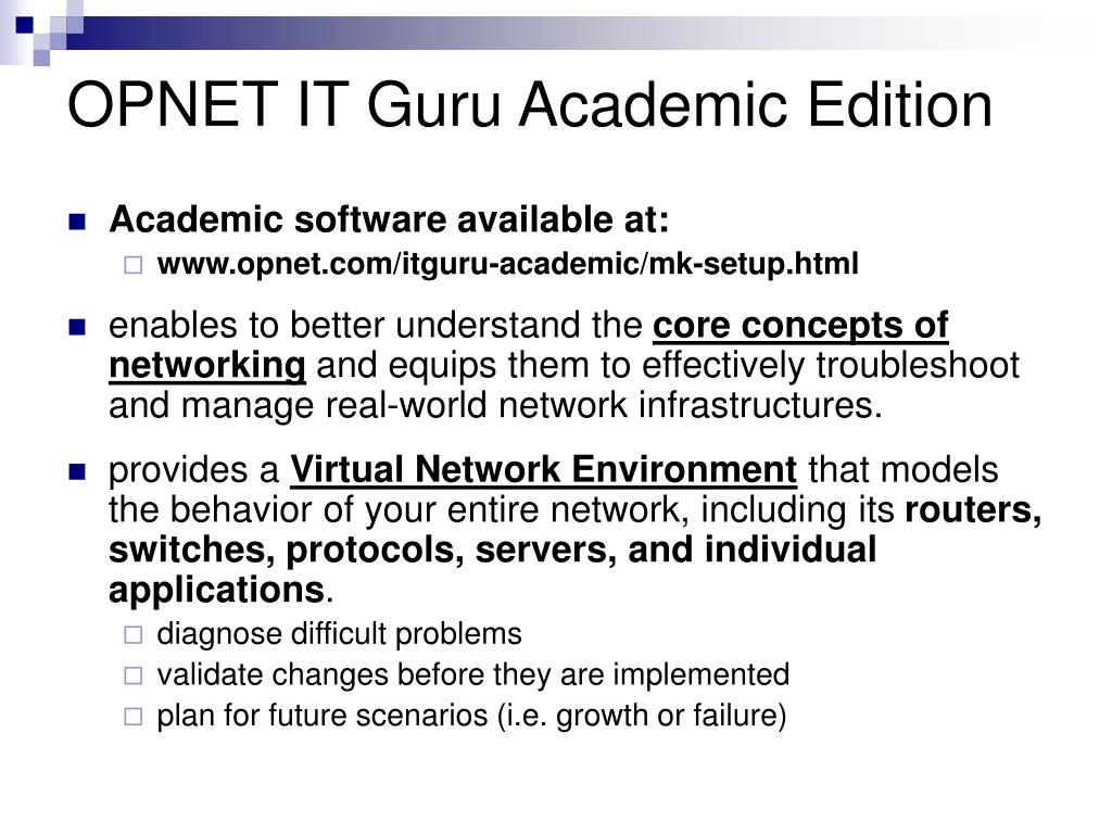OPNET IT Guru Academic Edition