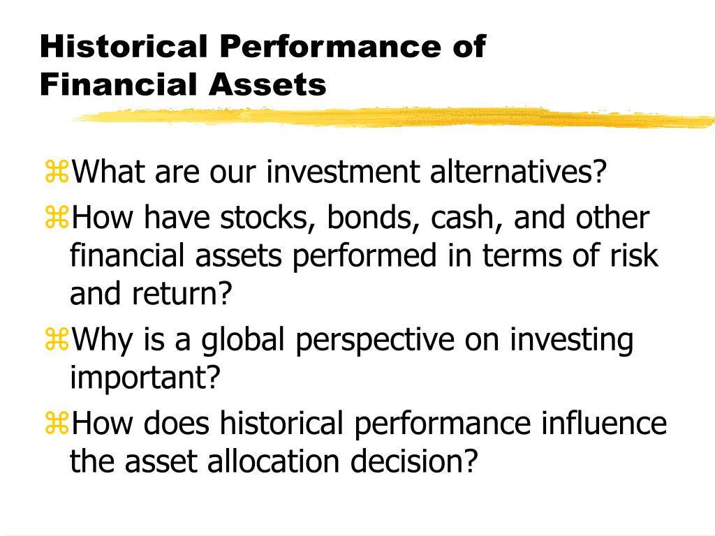 historical performance of financial assets l.