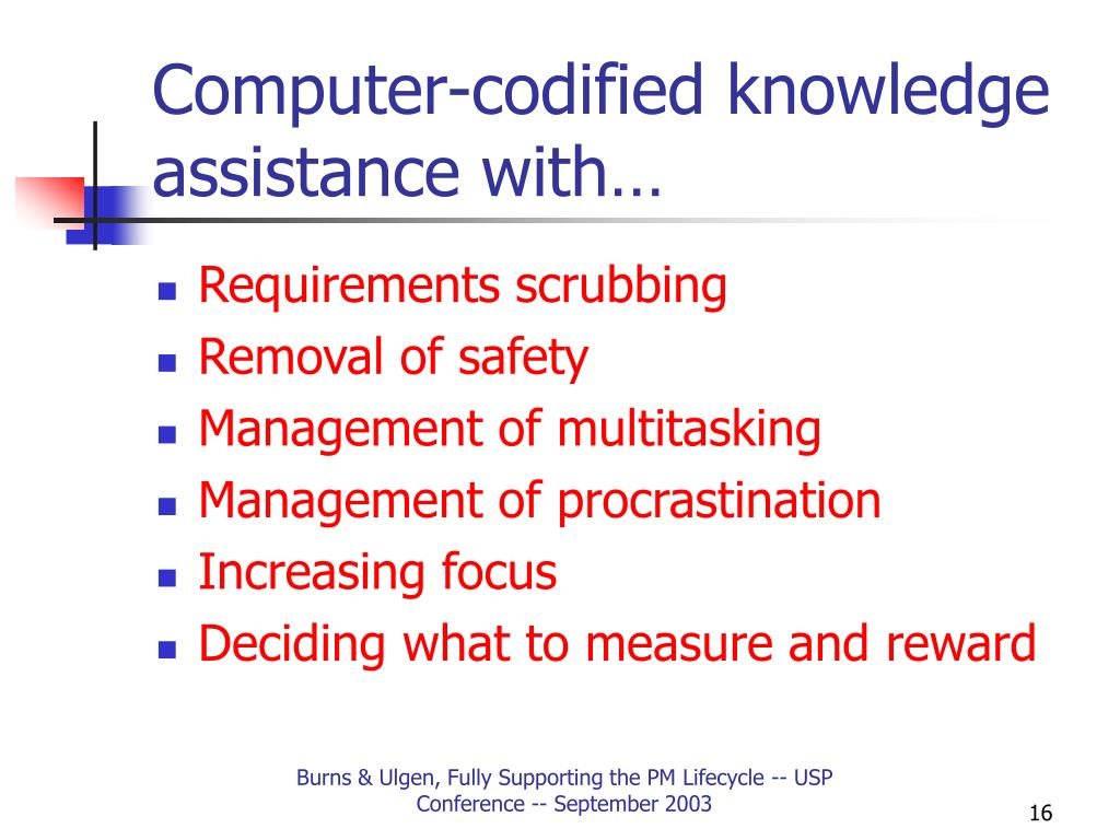Computer-codified knowledge assistance with…