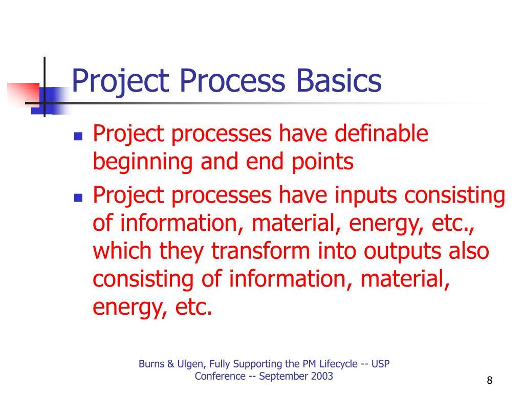 Project Process Basics