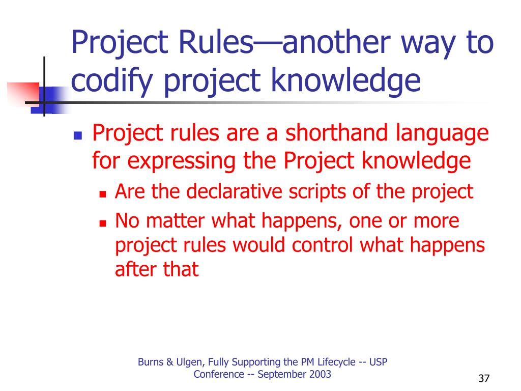 Project Rules—another way to codify project knowledge