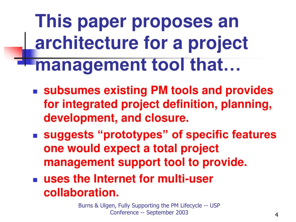 This paper proposes an architecture for a project management tool that…