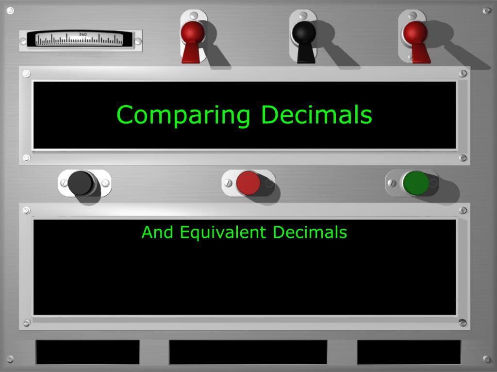 comparing decimals l.