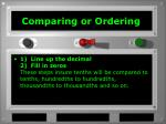 comparing or ordering