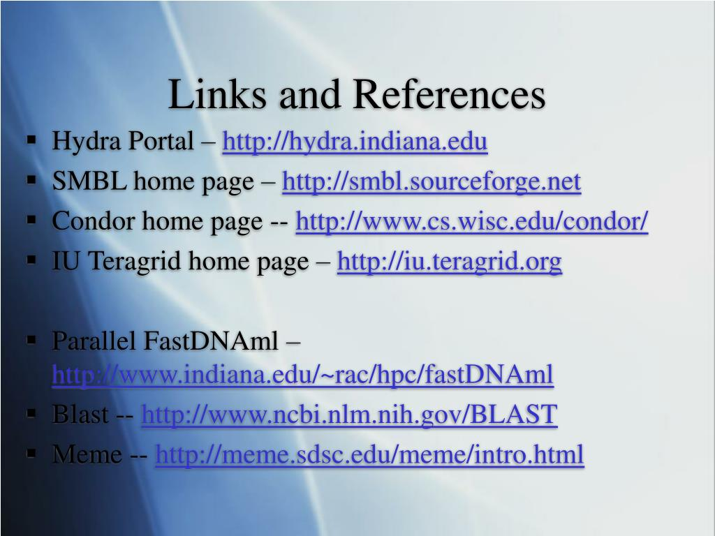 Links and References