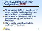 how plds remember their configuration sram