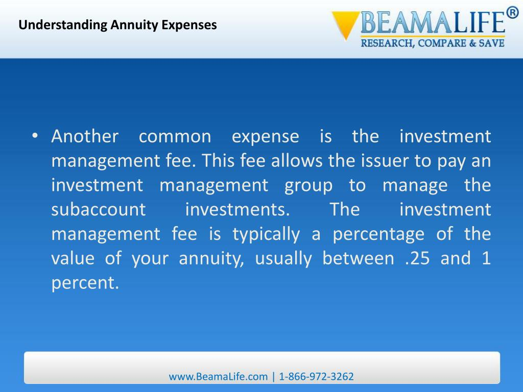 Understanding Annuity Expenses