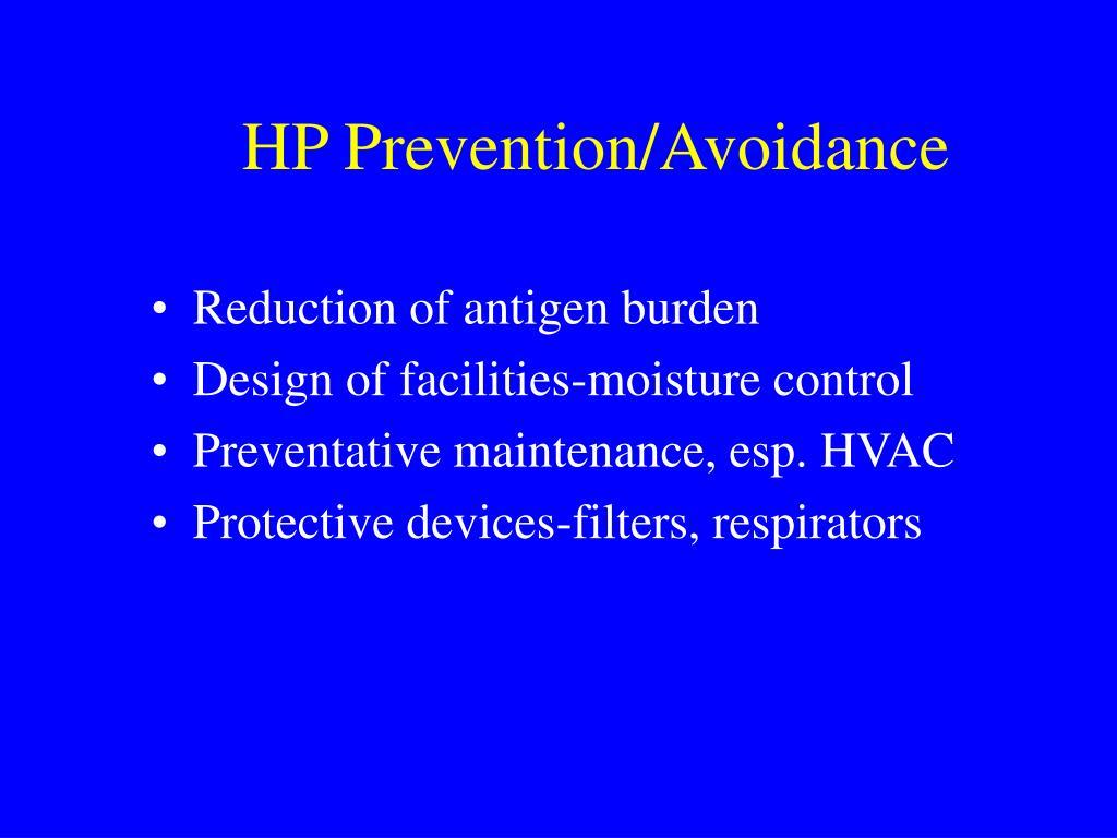 HP Prevention/Avoidance