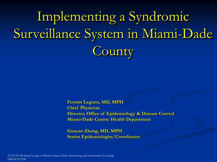 syndromic surveillance system an innovative information Syndromic surveillance in ontario: current initiatives and outlined syndromic surveillance (ss) systems current initiatives and future directions.