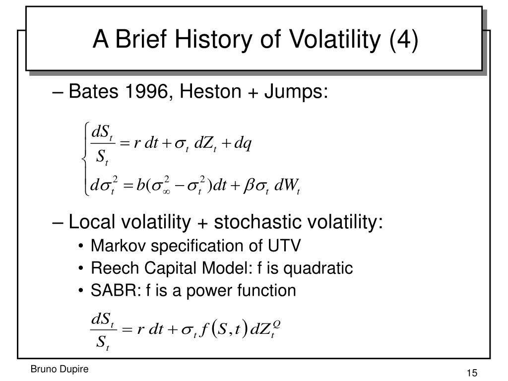 chaos dynamics and stochastic volatility From stochastic variance to stochastic volatility  asset price dynamics: which stochastic process explains the volatility skew  is ubs a victim of chaos theory.