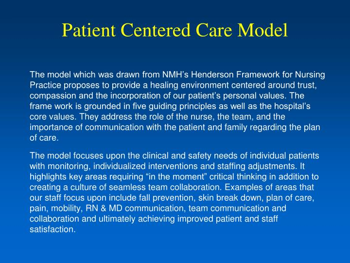 ppt - patient centered care model powerpoint presentation - id:307917
