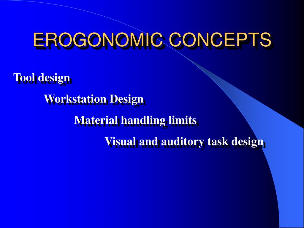EROGONOMIC CONCEPTS