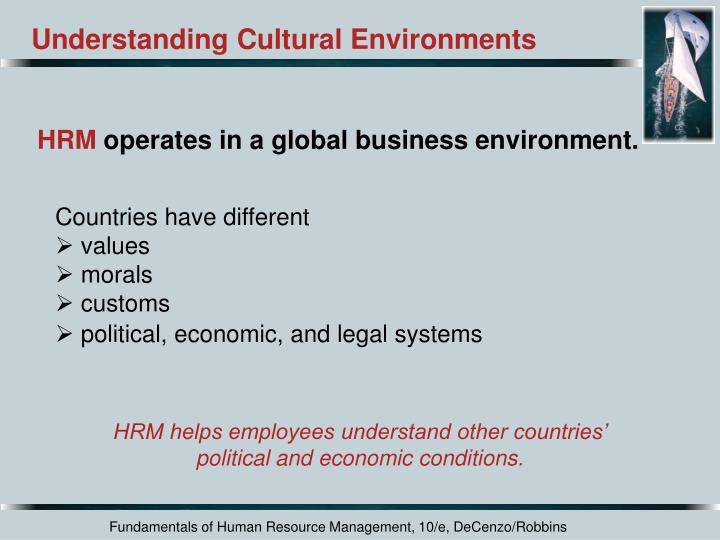 Understanding Cultural Environments