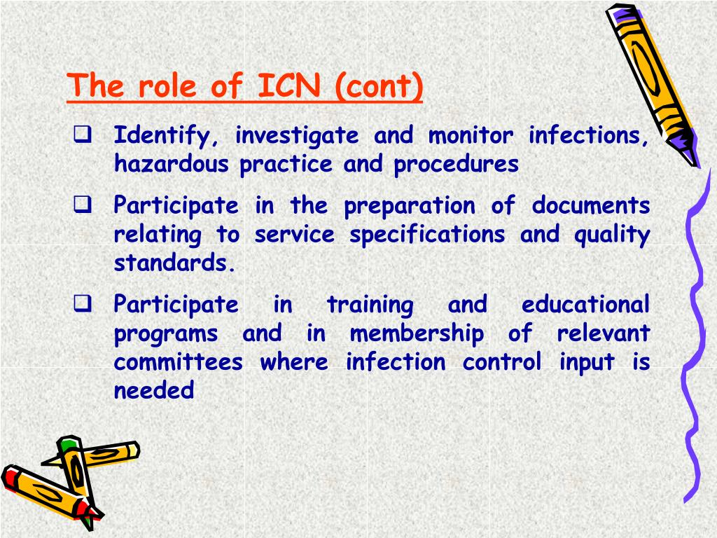 The role of ICN (cont)