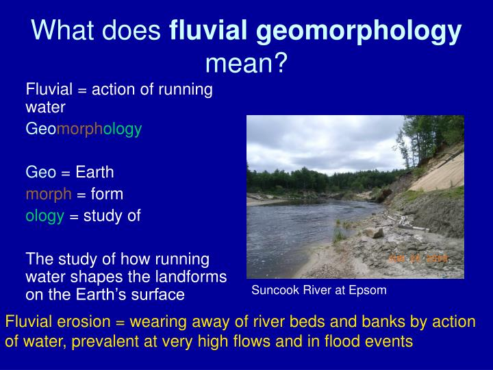 what does fluvial geomorphology mean n.