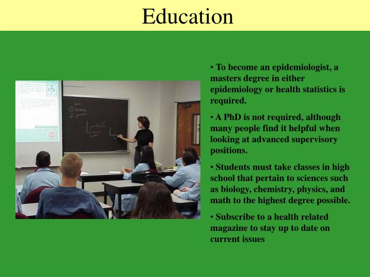 Epidemiologist Education Requirements - The Best Education 2018