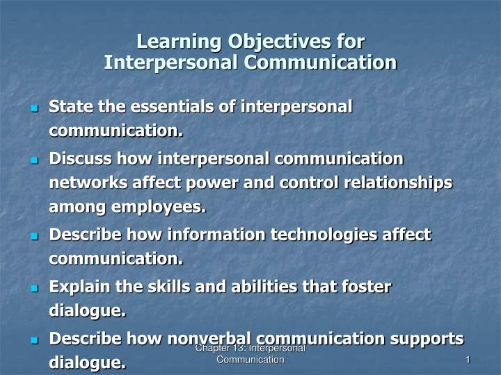 discussion: interpersonal communication perspectives Use of effective interpersonal communication strategies by nurses may reduce stress, promote wellness, and therefore, improve overall quality of life use of effective interpersonal communication strategies by nurses in both personal and professional settings, may reduce stress, promote wellness, and therefore, improve overall quality of life.