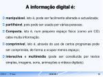 a informa o digital