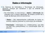 dados e informa o