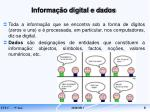 informa o digital e dados