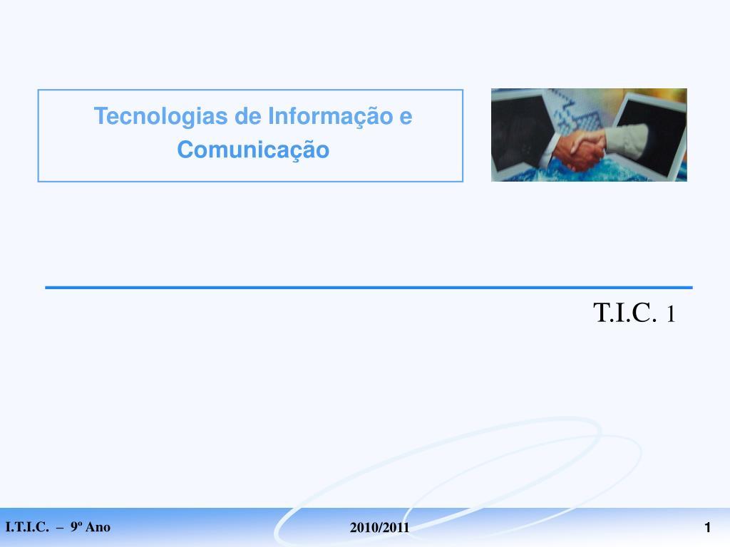 tecnologias de informa o e comunica o l.