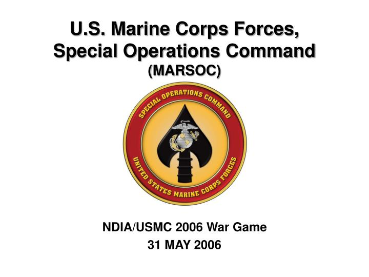 marine corps special operations command thesis Ada601699 title : us marine corps forces, special operations command and the selected marine corps reserve descriptive note : master's thesis.