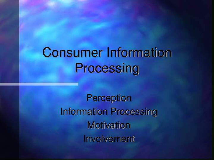 consumer information processing n.