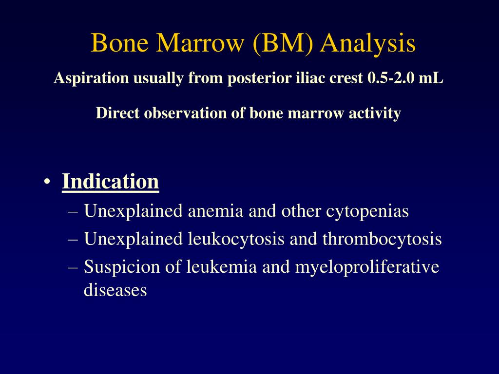 Bone Marrow (BM) Analysis
