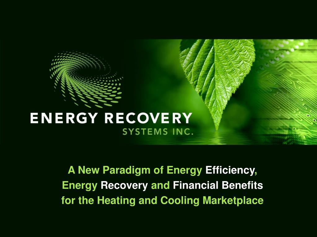 A New Paradigm of Energy