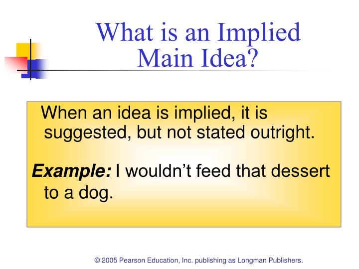 Ppt Chapter 6 Understanding Implied Main Ideas Powerpoint