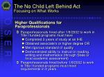 the no child left behind act focusing on what works23