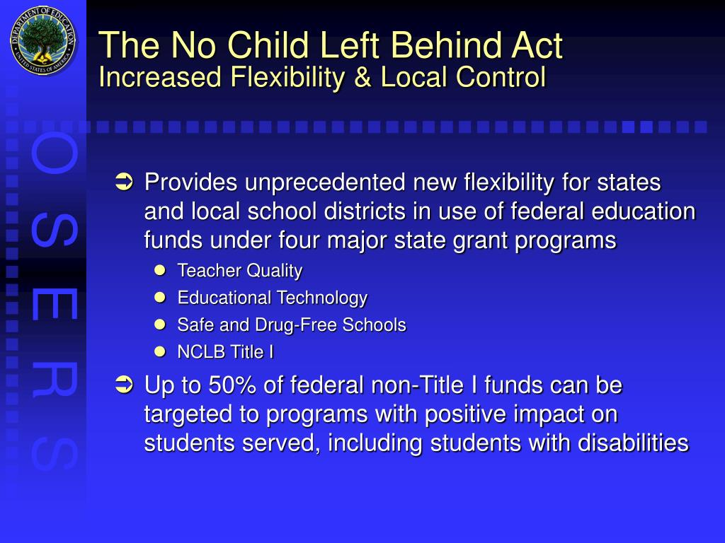 the impact of nclb Negative implications of no child left behind: as graduation rates go down, school ratings go up date: february 16, 2008 source: rice university summary.