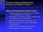 the no child left behind act stronger accountability for results11