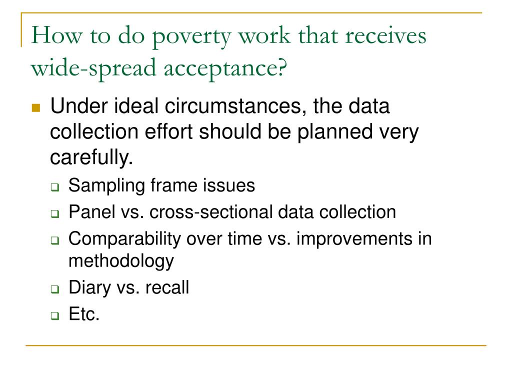How to do poverty work that receives wide-spread acceptance?