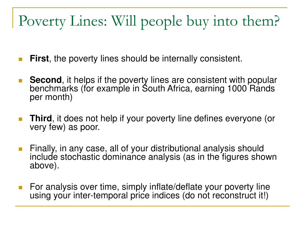 Poverty Lines: Will people buy into them?