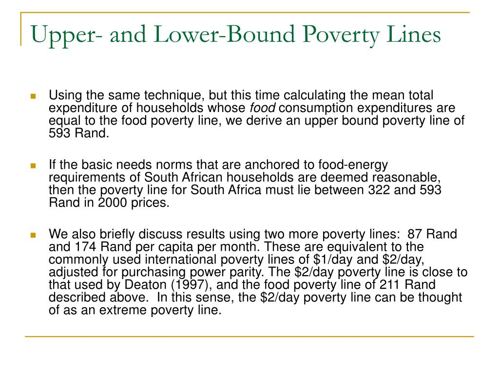 Upper- and Lower-Bound Poverty Lines