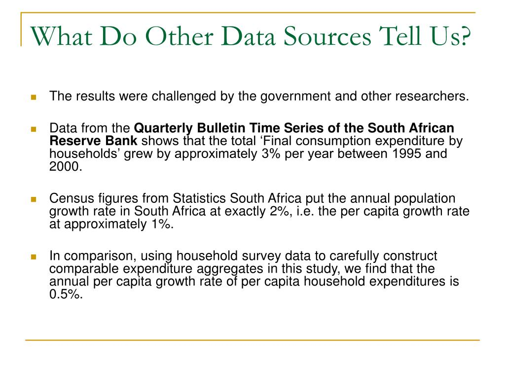 What Do Other Data Sources Tell Us?