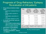 prognosis of drug refractory epilepsy re evaluation of 246 patients