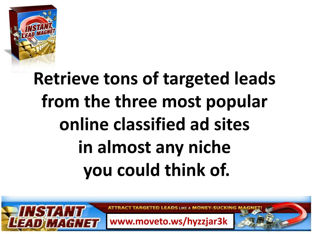 Retrieve tons of targeted leads