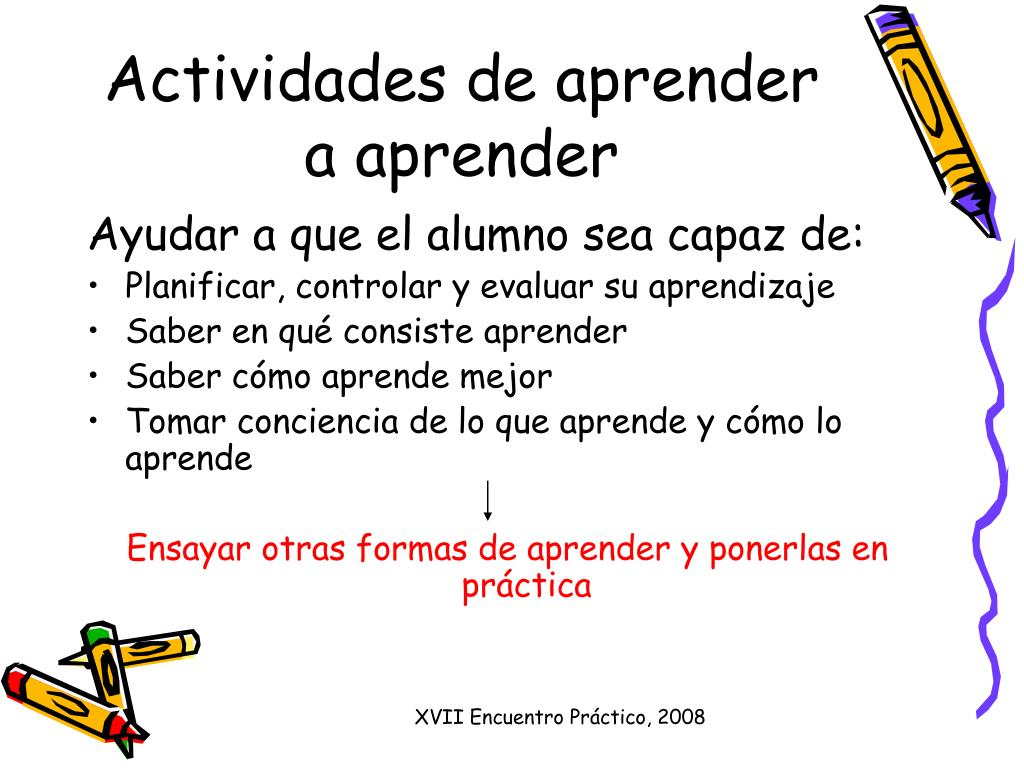 Actividades de aprender a aprender